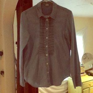 Supercute tuxedo-style denim shirt